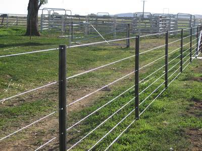Star pickets and Seven lines of steel wires are installed around the horse farm.